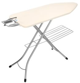 Featured Product Ironing Board with Steam Iron Rest & Linen Rack
