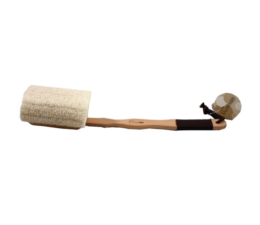 Featured Product Wooden Back Loofah Sponge