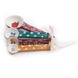 Featured Product Fall Flowers Ceramic Measuring Spoons