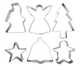 Featured Product 6-Piece Stainless Steel Christmas Cookie Cutter Set