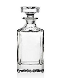 Featured Product Silver Art Clarion Square Non-Leaded Crystal Whiskey Decanter