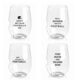 Featured Product TopRack Charmed Football Fans Wine Glasses