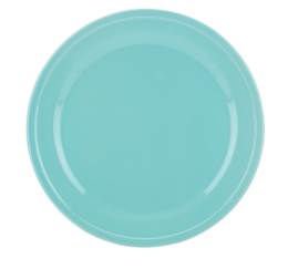 "Featured Product All in Good Taste Sculpted Turquoise 10.5"" Dinner Plate"