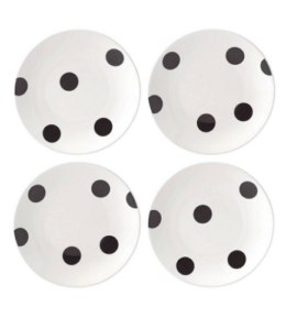 Featured Product All in Good Taste Deco Dot 4-Piece Tidbit Plate Set