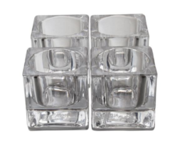 Featured Product Chunky Glass Square Tealight Holder