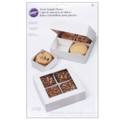 Featured Product 4 Cavity White Compartment Boxes