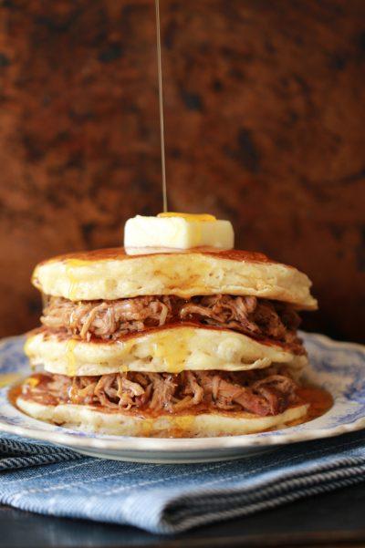 Pulled Pork Pancakes Recipe | Gemma Stafford