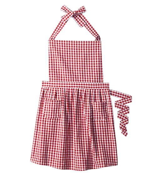 Featured Product Classic Red Gingham Apron