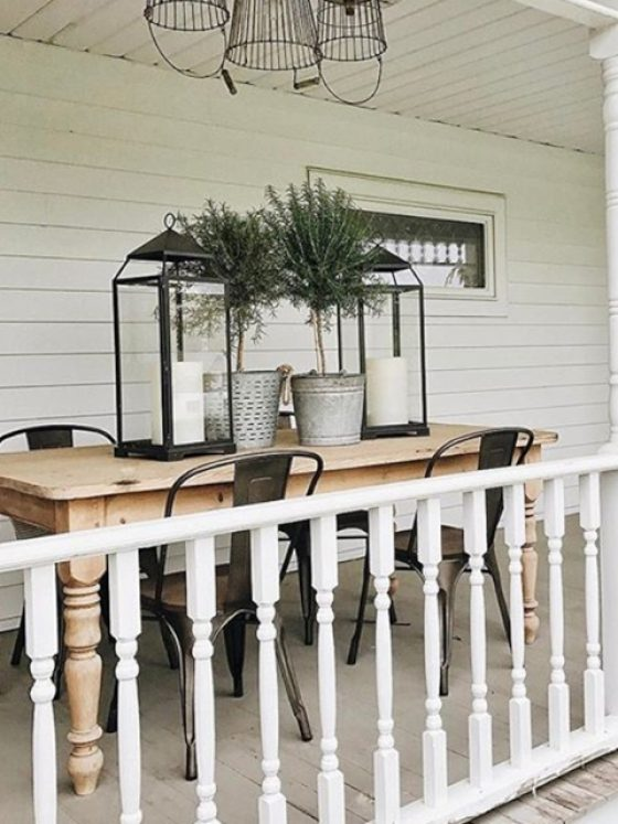 Front Porch Dining Space - Liz Marie