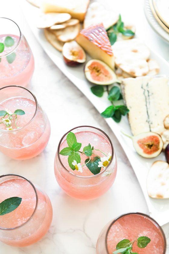 2017 06 Pink Ginger Lemonade Champagne Slush Punch 20 1 Of 1