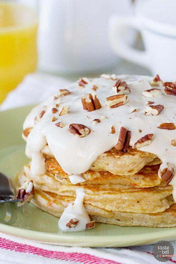 24 Carrot Cake Pancakes Tasteandtellblog Com 1