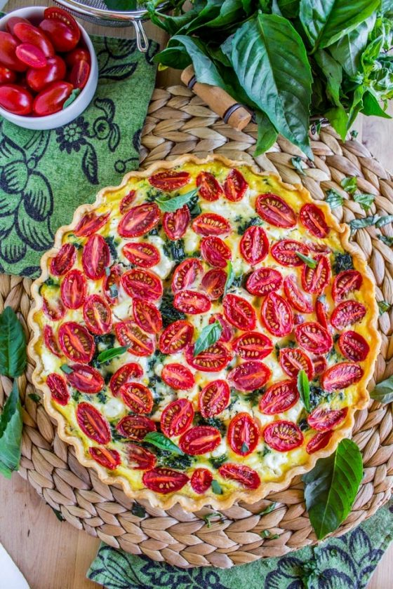 25 Cherry Tomato Leek Spinach Quiche