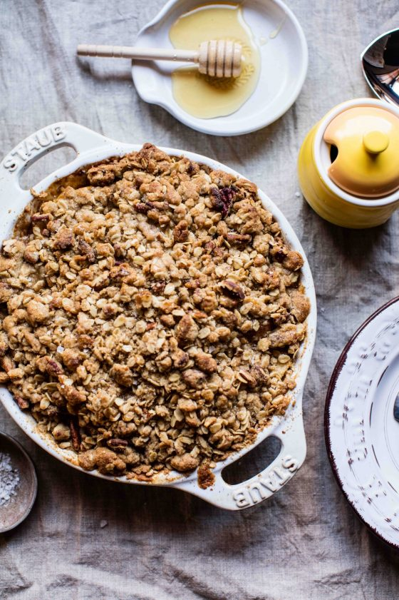 Manuka Honey Apple Crumble Recipe | Tieghan Gerard | The Inspired Home