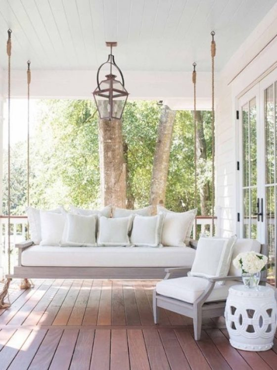 Becki Owens Curb Appeal With Porch Swing Leah G Bailey