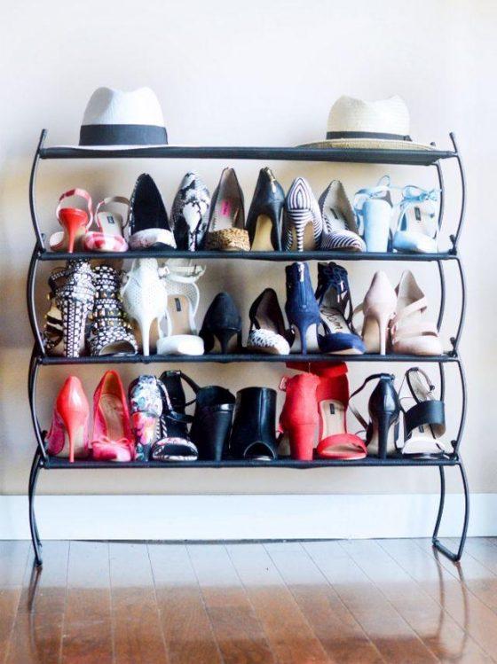 Dorm Room Shoe Organization Inspired Home
