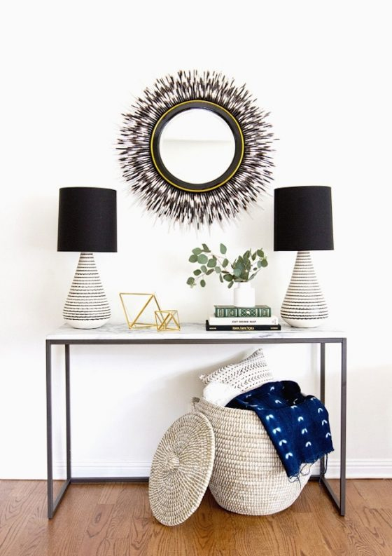 Inspired Home Entryway Black White