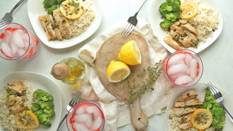 Make Ahead Lemon Chicken with Broccoli & Rice