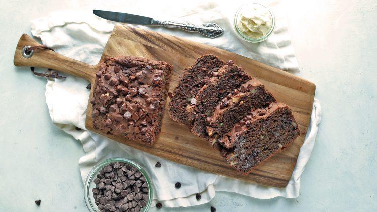 Gluten-Free Chocolate Avocado Zucchini Bread