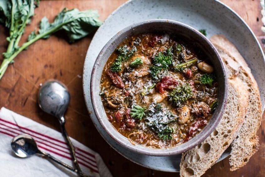 Crockpot Italian Chicken And Broccoli Rabe Chili 8
