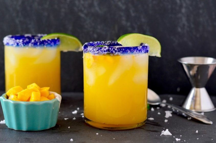Spicy Mango Lime Margaritas