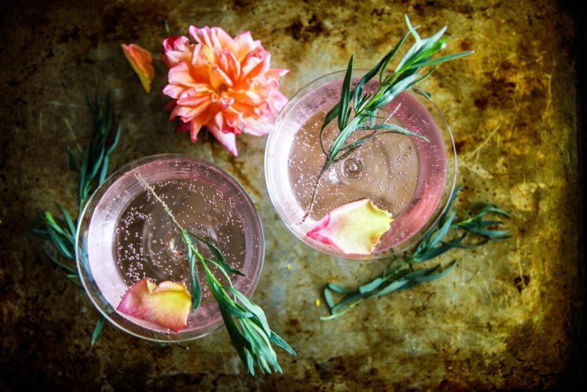 Rose And Tarragon Gin Lemonade From Heather Christo