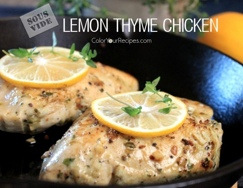 Simple Sous Vide Lemon Thyme Chicken Breast Recipe 4 Color Your Recipes