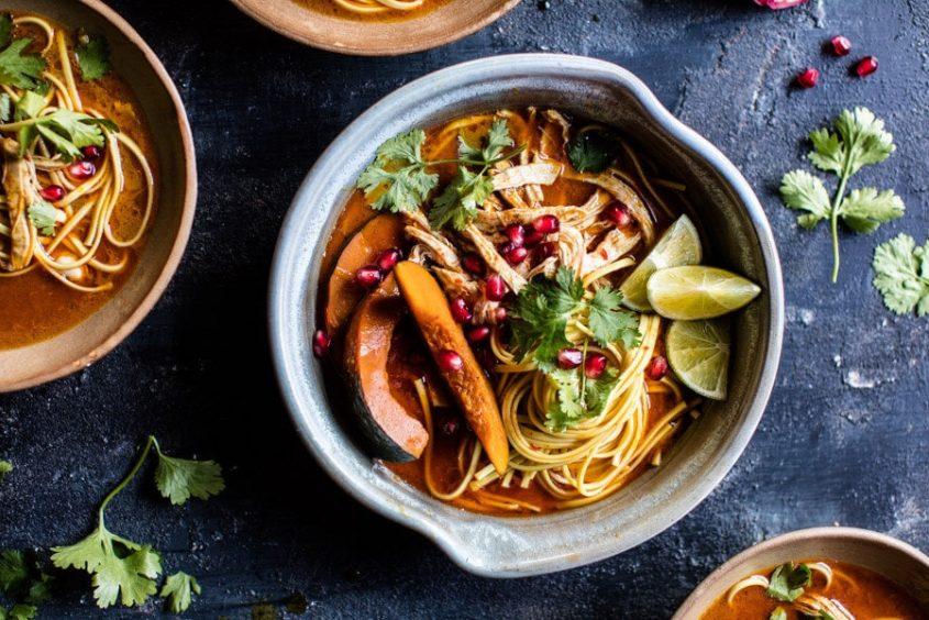 Thai Pomegranate Chicken Khao Soi Noodle Soup 7 1