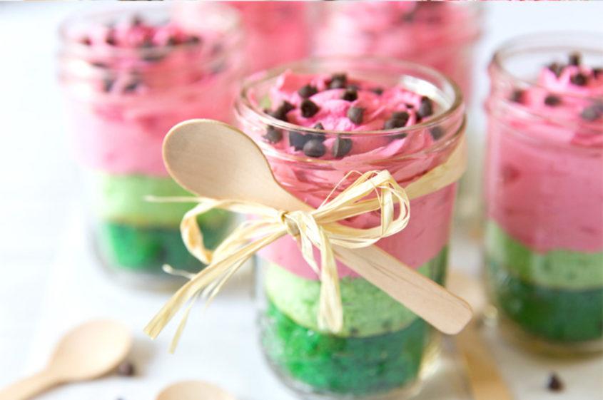Watermelon Cake Mason Jar Dessert 2