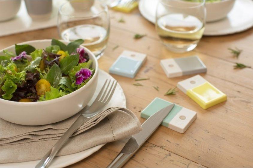 Colorful Porcelain Trivet Kit Knife Rests Color Lab
