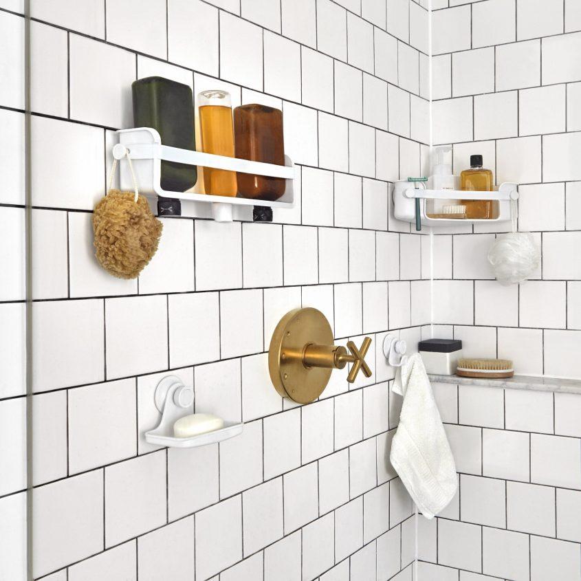 Inspired Home Bath Organization Shower Suction