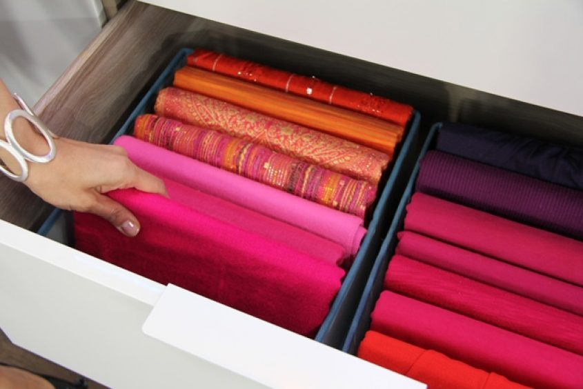 Organize Scarves Folded