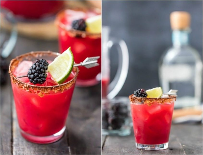 Spicy Blackberry Margarita