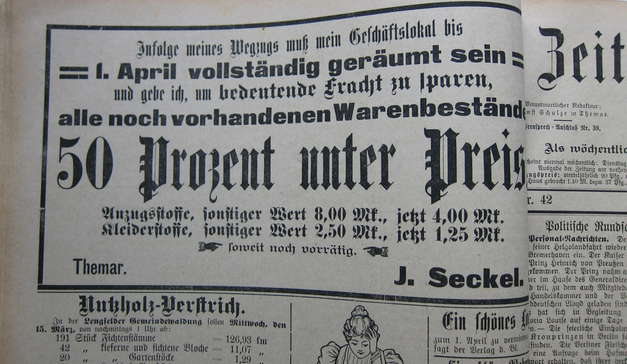 March 1905 Seckel sale
