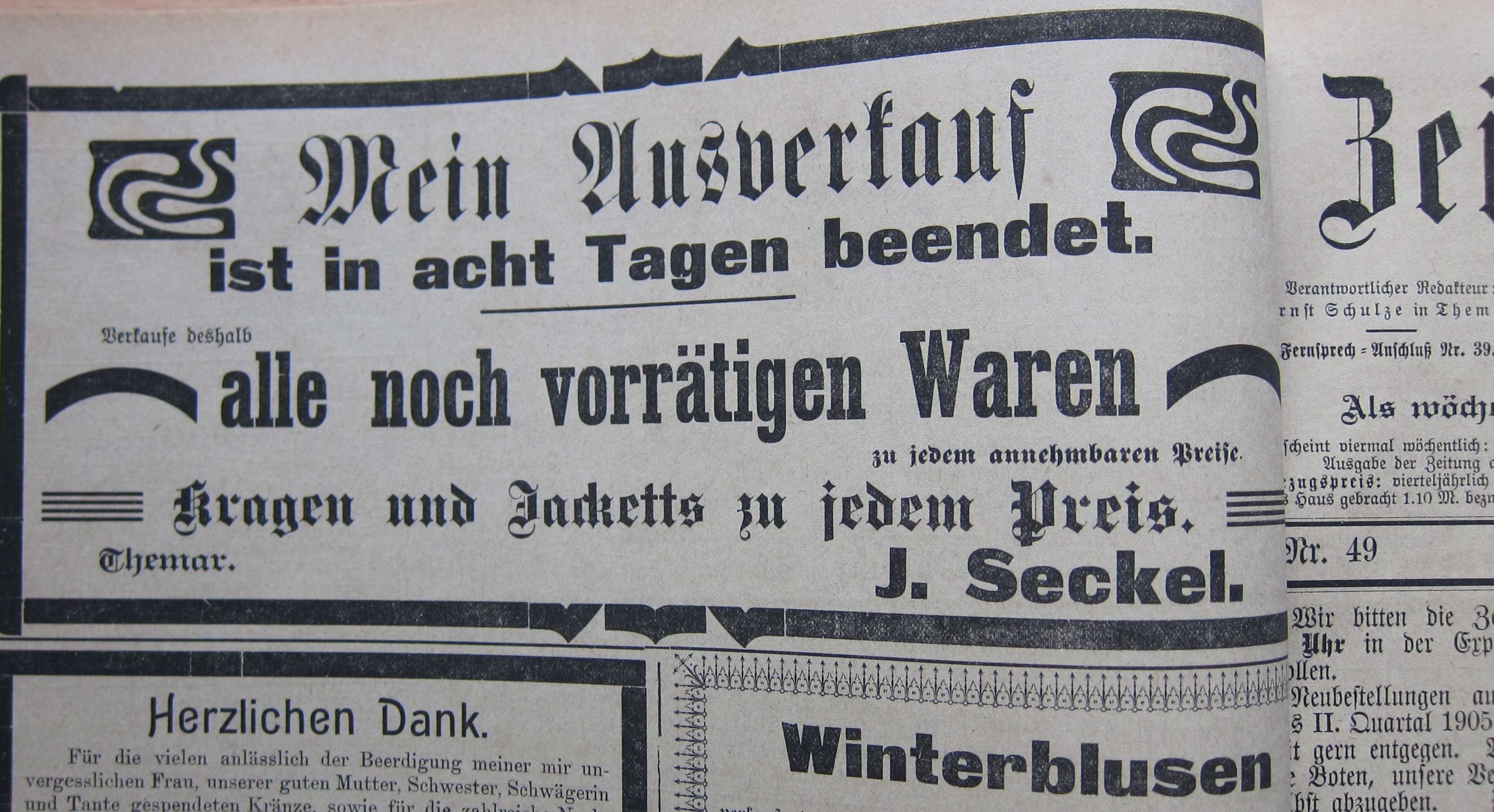 Seckel 1905 ad Zft