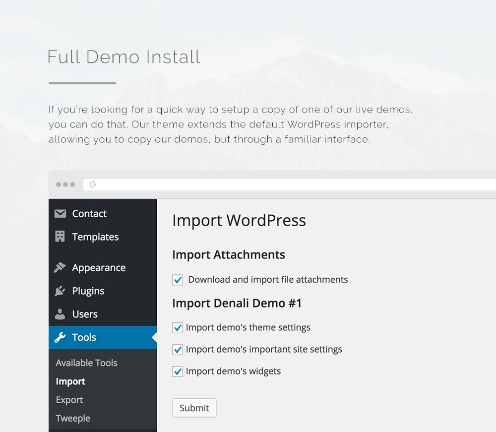 Denali - Responsive Multi-Purpose WordPress Theme - 1