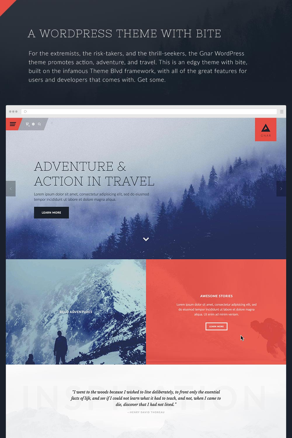 Gnar - Action, Adventure & Travel WordPress Theme