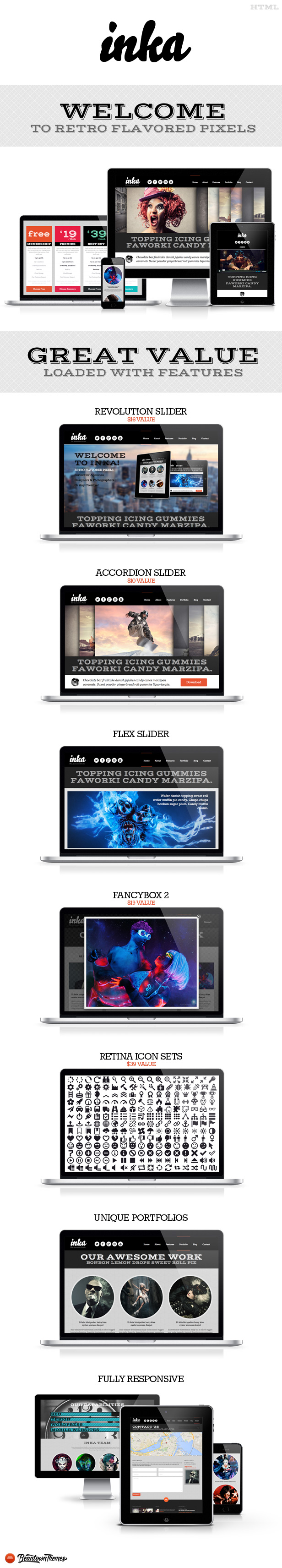 INKA - Retro Responsive Multi-Purpose Template - 2