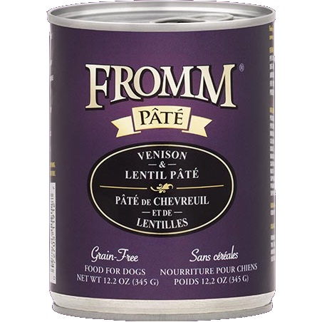 Fromm 'Pate' Venison & Lentil Grain-Free Canned Dog Food 12.2z, 12
