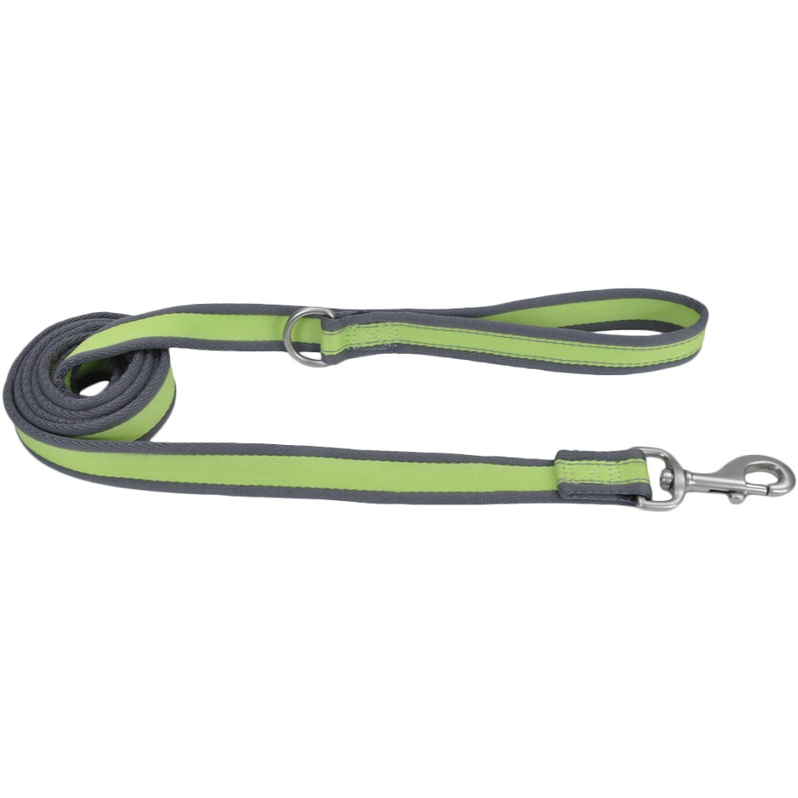 "Coastal 'Pet Attire Pro' Reflective Dog Leash - 1"" x 6', Bright Green with Grey"