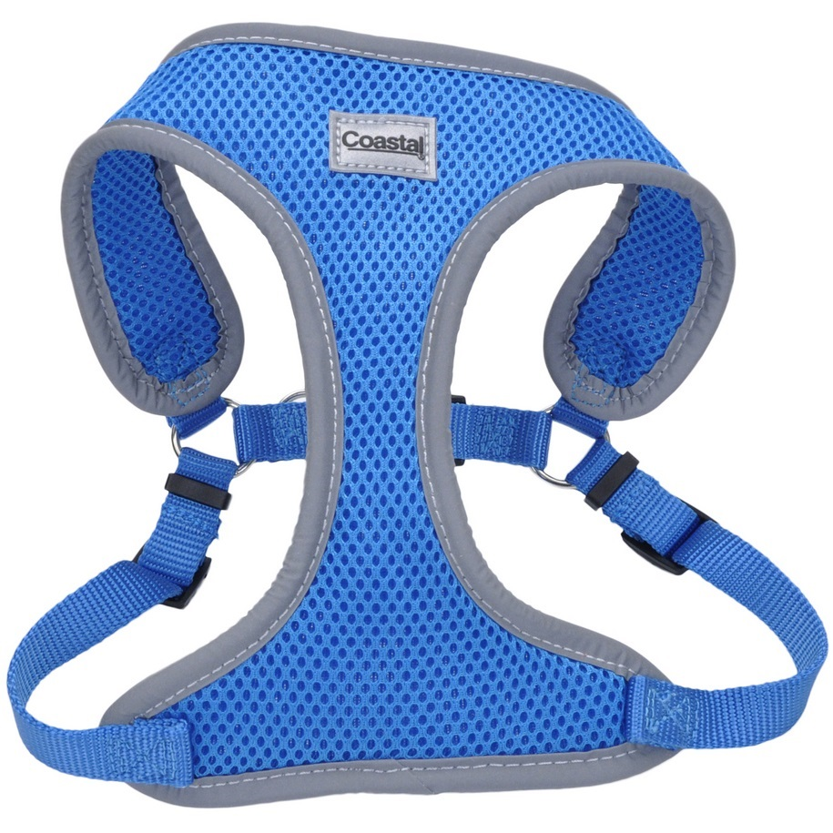 "Coastal 'Comfort Soft' Reflective Wrap Adjustable Dog Harness - SML - 5/8"" x 19""-23"", Blue Lagoon"