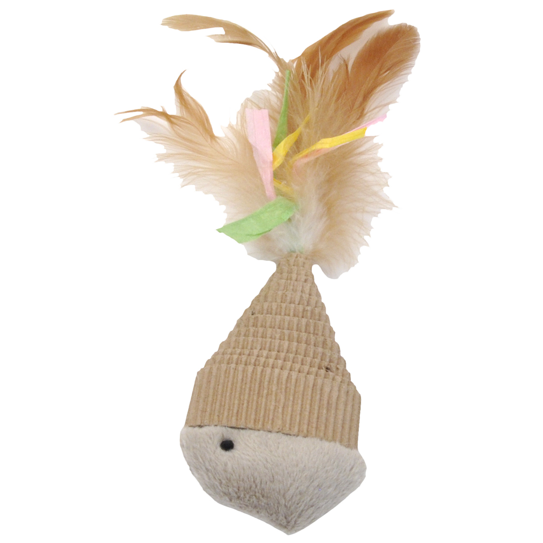 Coastal 'Turbo' Natural Corrugated Fish Cat Toy