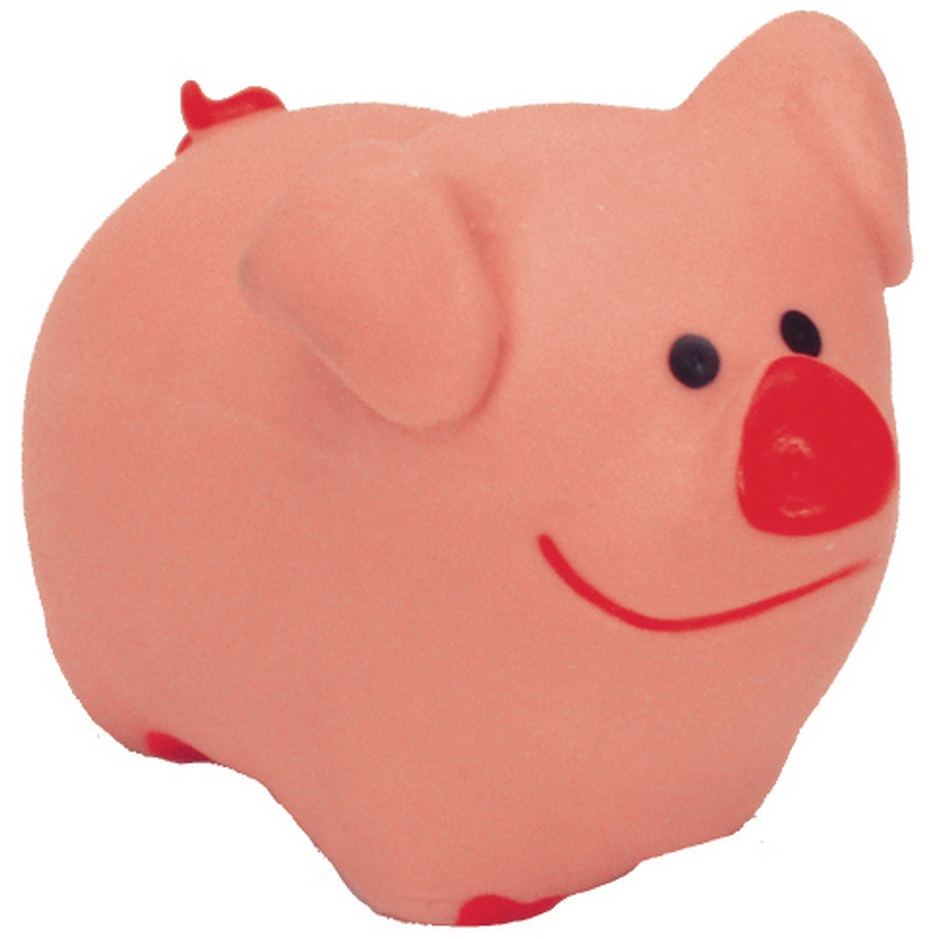 "Coastal 'Li'l Pals' 3"" Pig Latex Dog Toy"