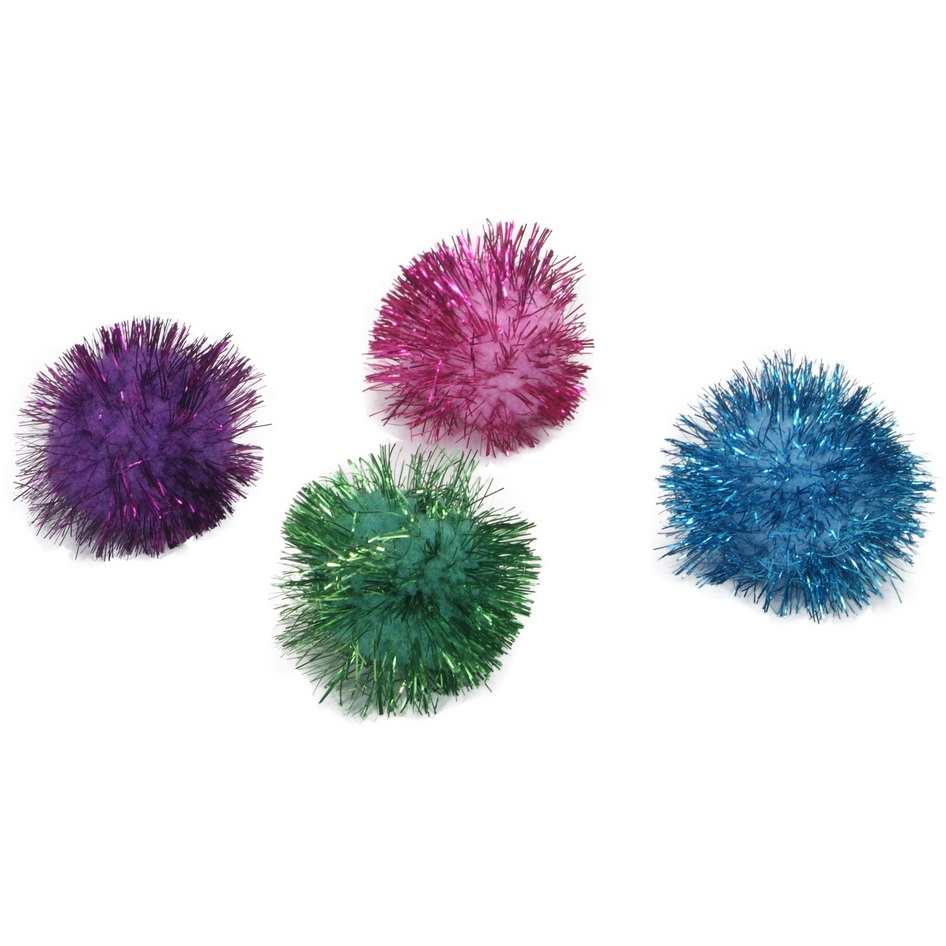 Coastal 'Rascals' Glitter Pom Pom Cat Toy, 1 Count