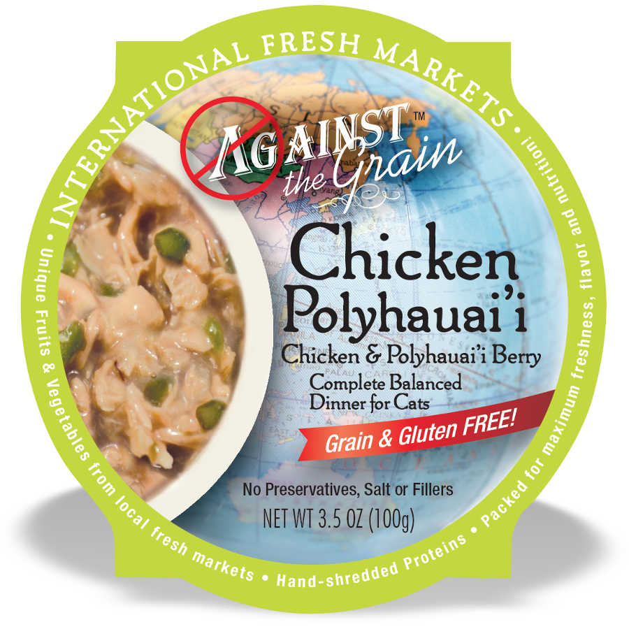 Against The Grain Chicken & Polyhauai'i Berry Wet Cat Food 2.8z, 24