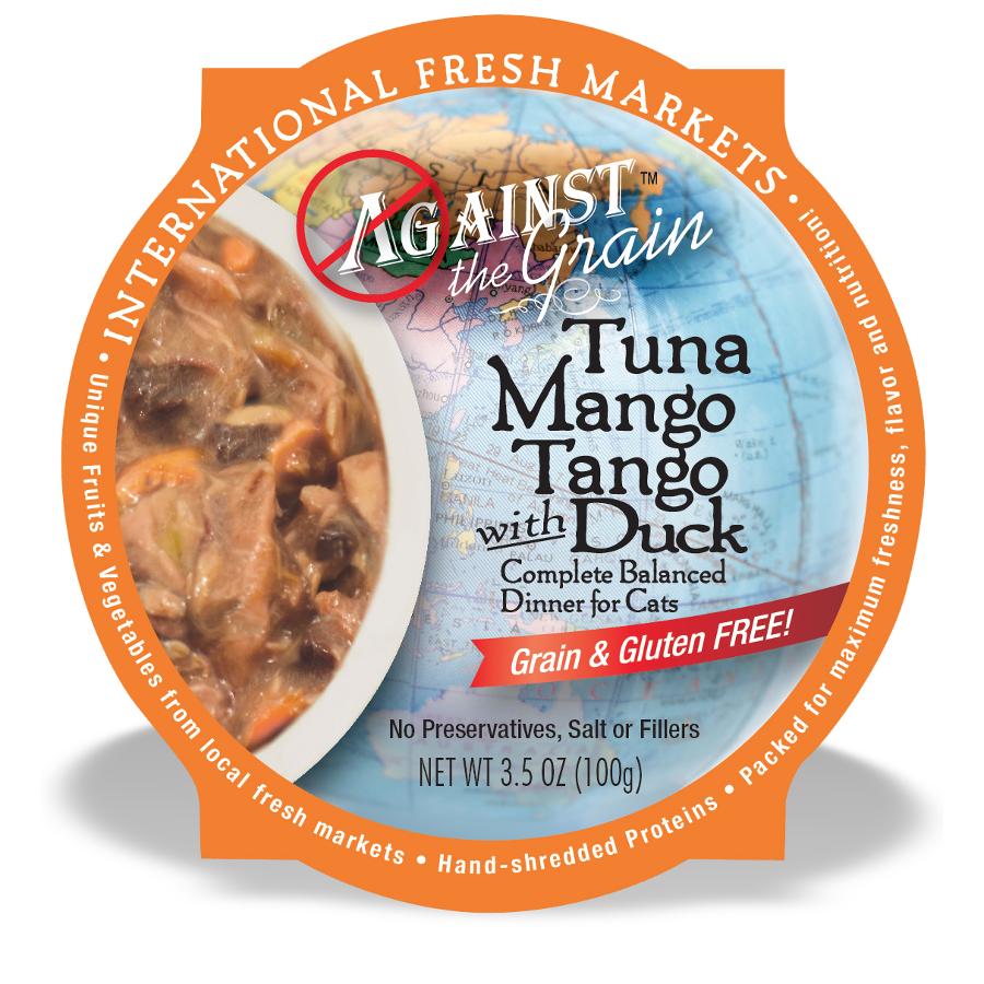Against The Grain Tuna Mango Tango With Duck Wet Cat Food 2.8z, 24