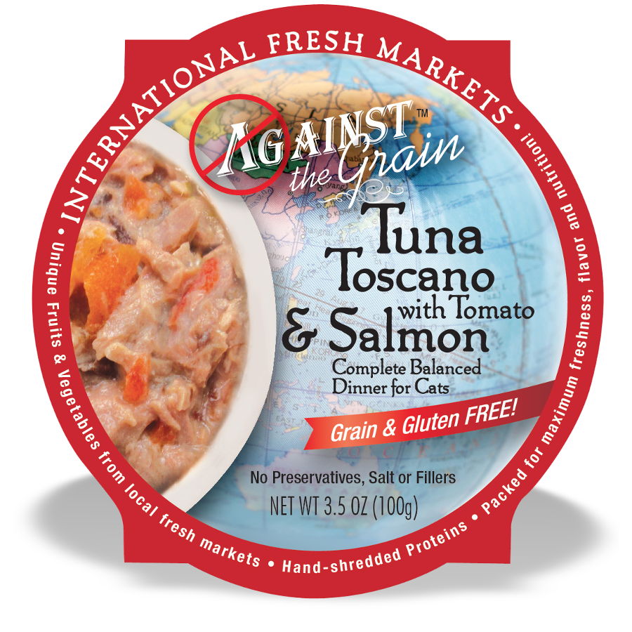 Against The Grain Tuna Toscano With Salmon & Tomato Wet Cat Food 2.8z, 24