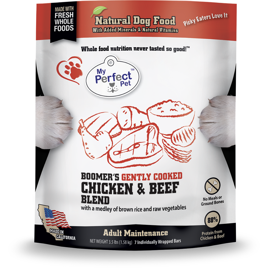 My Perfect Pet Boomer's Blend Chicken & Beef Frozen Dog Food 3.5lbs