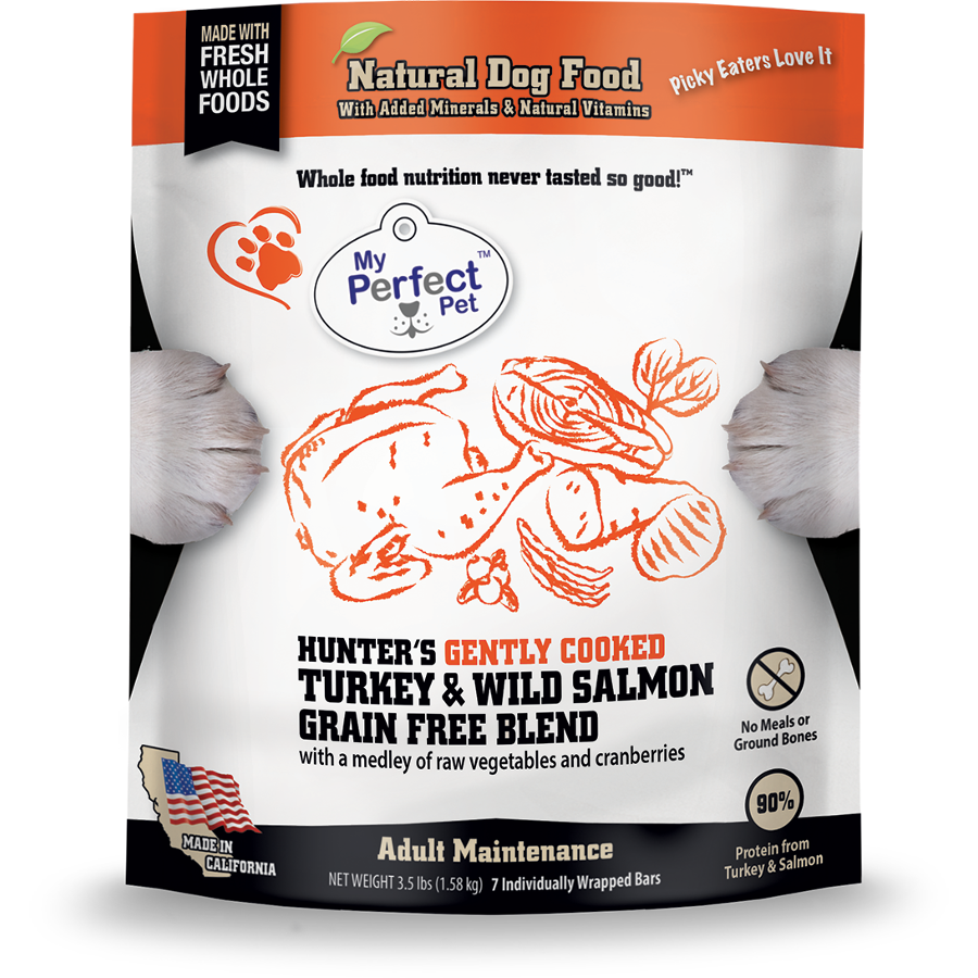 My Perfect Pet Grain-Free Hunter's Turkey & Salmon Frozen Dog Food 3.5lbs