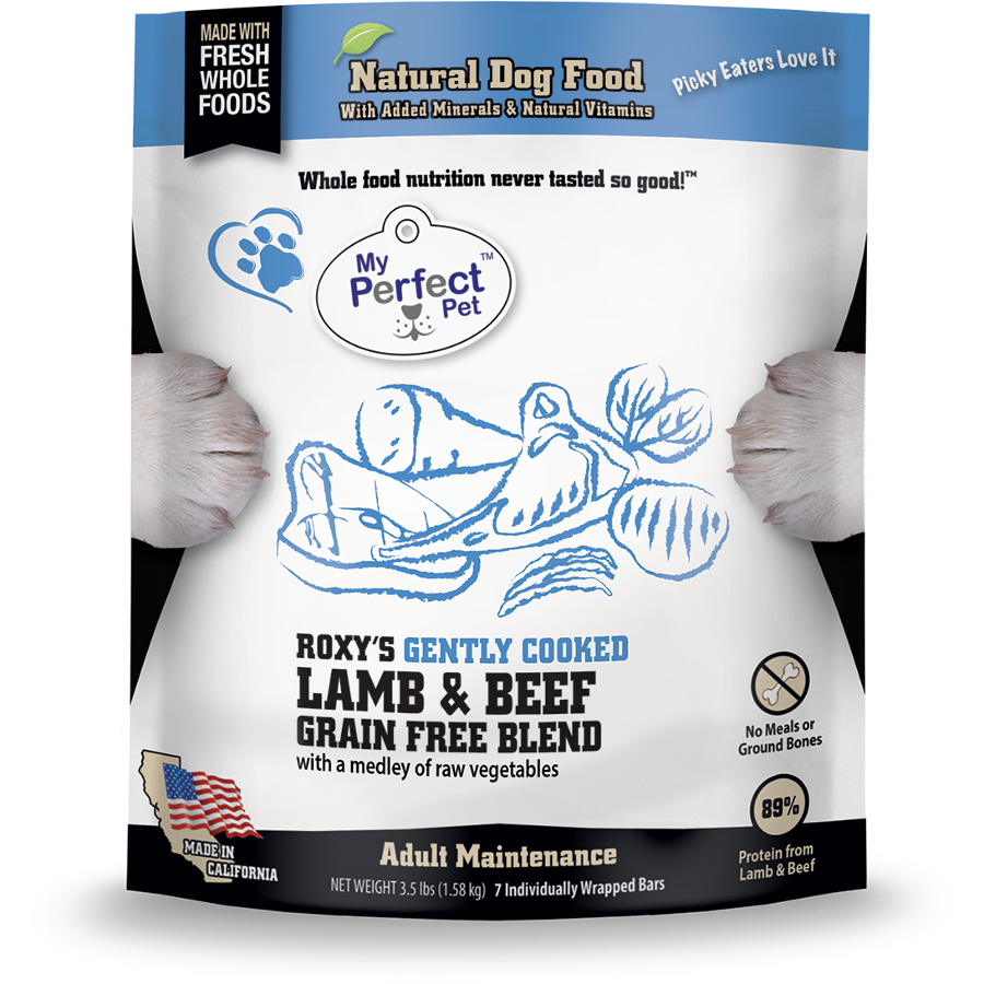 My Perfect Pet Roxy's Blend Lamb & Beef Frozen Dog Food 3.5lbs