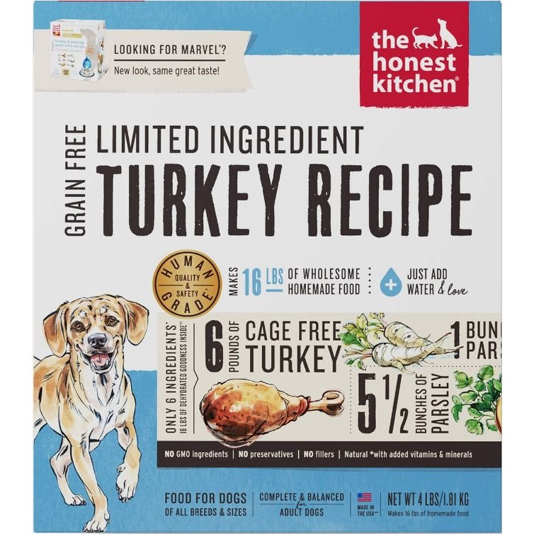 The Honest Kitchen Marvel Turkey & Parsnip Dehydrated Dog Food 4lbs